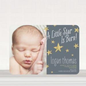 Star is Born Photo Birthday Announcements
