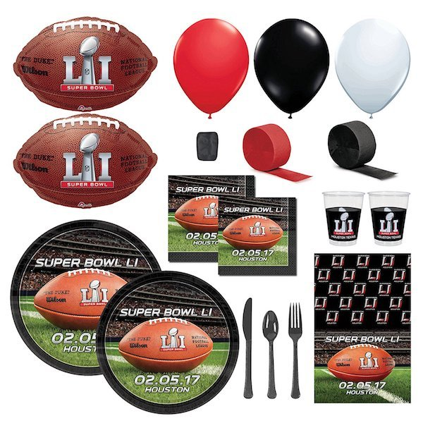 Super Bowl 51 Party Packs and Supplies