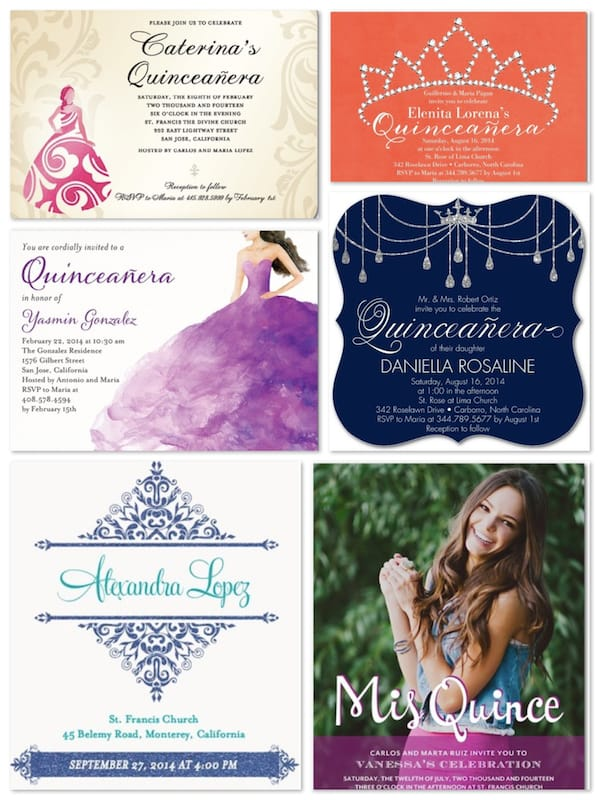 Sweet 15 Quinceanera Invitations
