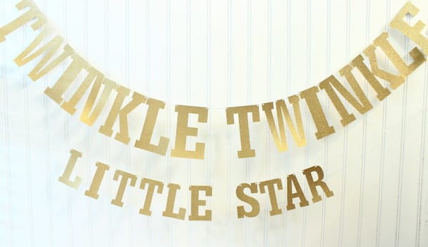 Twinkle Twinkle Little Star Banner