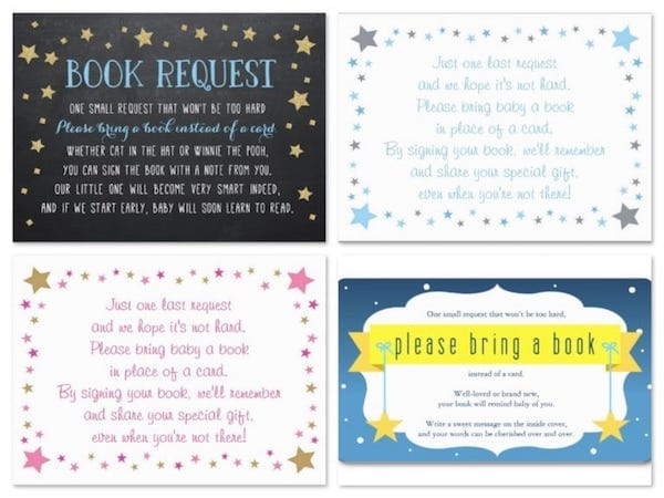 Twinkle Twinkle Little Star Baby Shower Book Request Cards