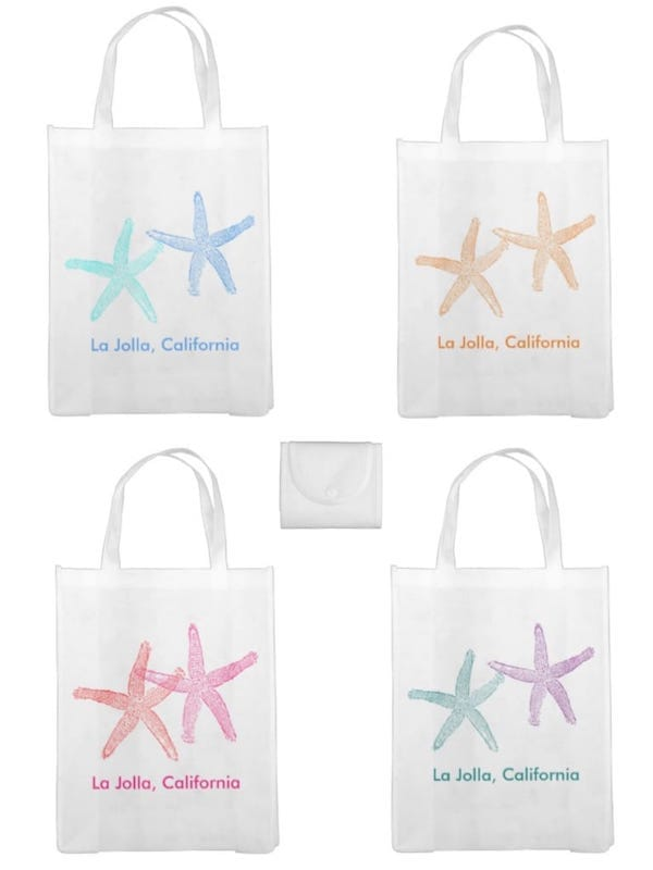 Two Starfish Beach Wedding Welcome Bags