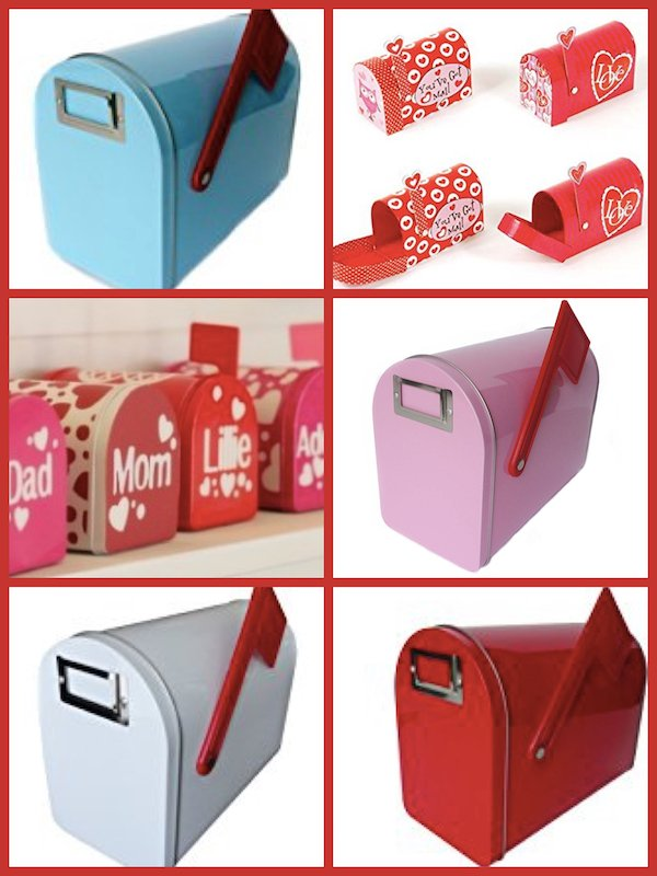 Valentine's Day Fireplace Mantel Family Mailboxes, Valentines Day Stocking Stuffers