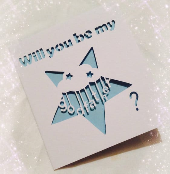 Will You Be My Godfather Star Card