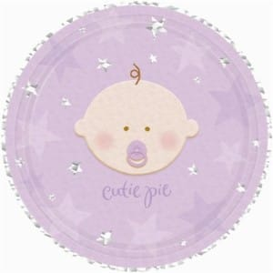 A Star is Born Lilac Baby Shower Plates