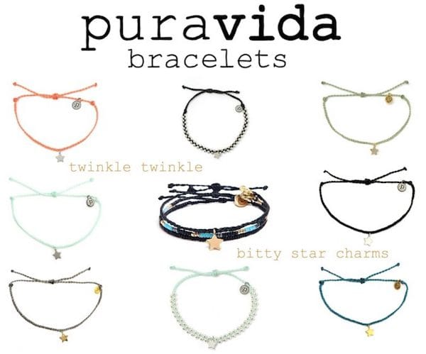 puravida bracelets bitty star charms