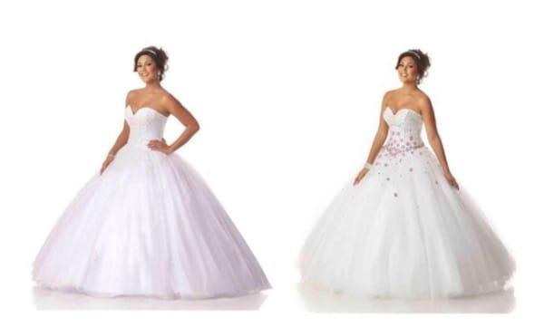 White quinceanera dresses