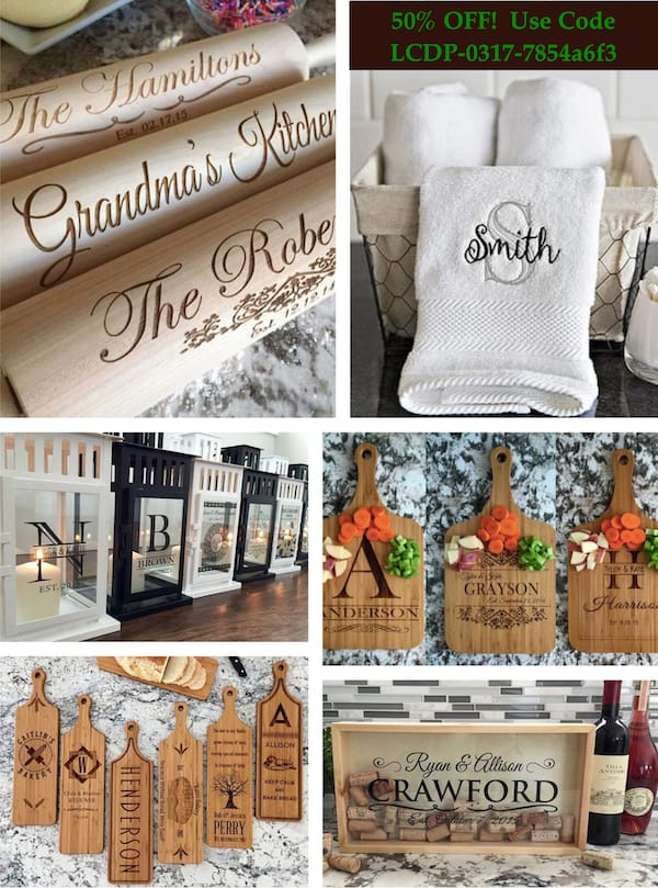 50 OFF High Quality Affordable Personalized Housewarming Hostess Wedding Anniversary Holiday and Teacher Gifts