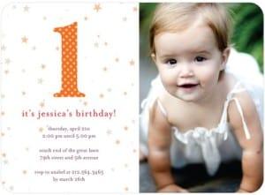First Birthday Stars Party Invitations