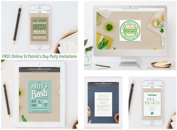 Free Online St Patrick's Day Party Invitations