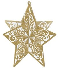 Gold Glittered Star Centerpiece