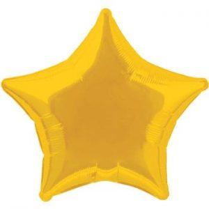 Gold Star Mylar Balloon
