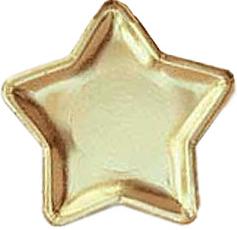 Gold Stars Paper Plates