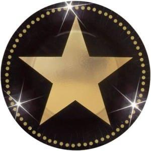 Gold Stars Plates