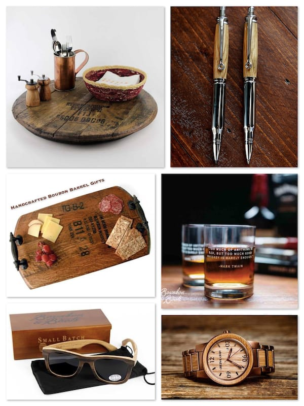 Handcrafted Bourbon Barrel Gifts