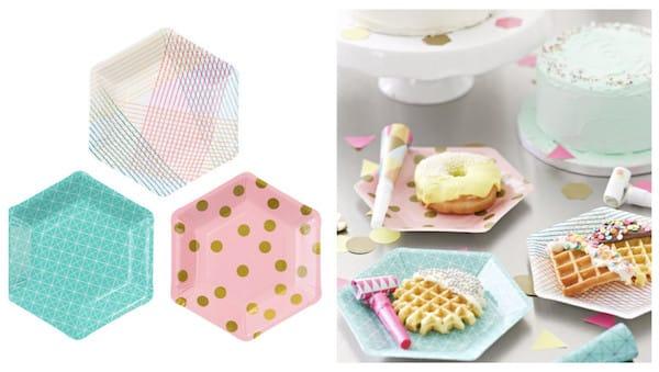 Hexagon Party Plates