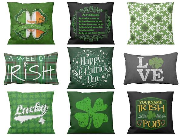 Irish and St Patricks Day Throw Pillows