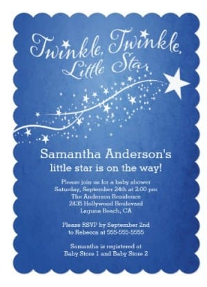 Modern Little Star Baby Shower Invitations