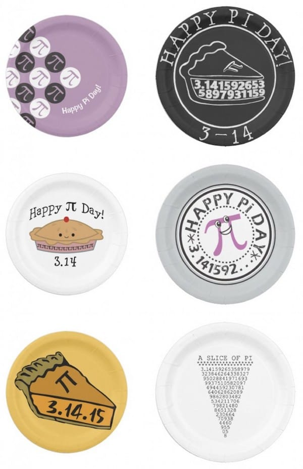 Pi Day Paper Plates