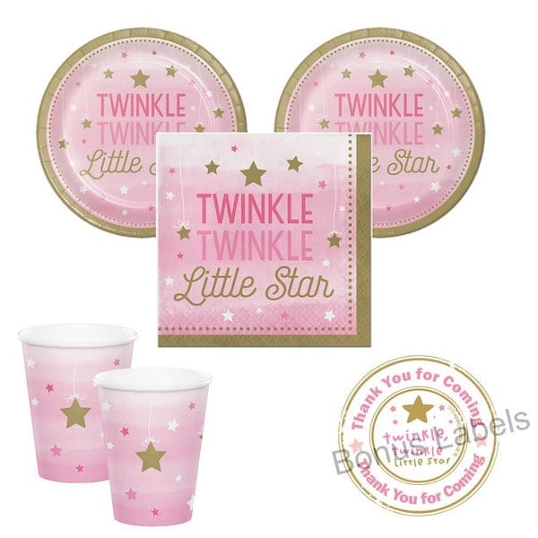 Pink Twinkle Twinkle Little Star Girl Party Supplies