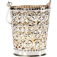 Small Tara Punched Tin Star Shadow Lantern
