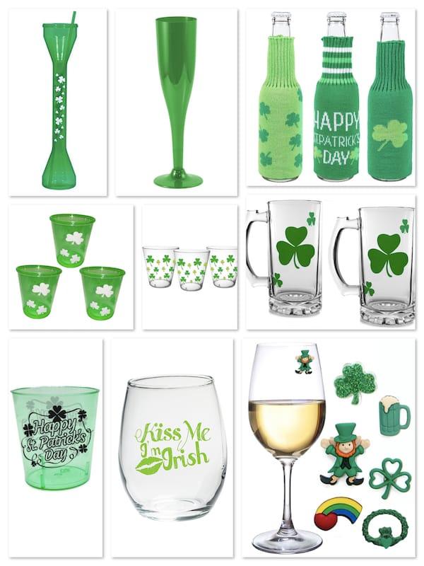 St Patricks Day Beverage Glasses