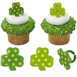 St Patricks Day Cake Rings and Toppers