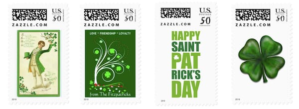 St Patricks Day Postage