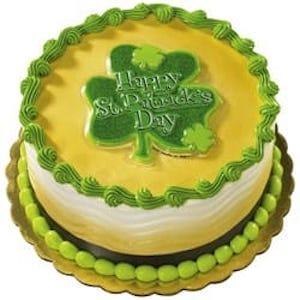 St. Patrick's Day Glitter Shamrock Cake Topper