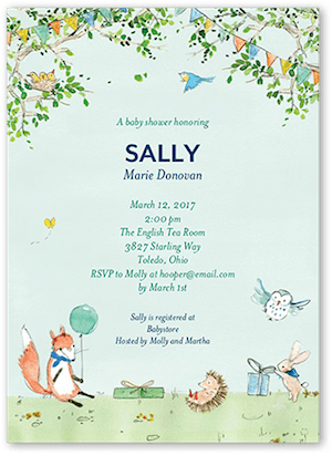 Sweet Woodland Baby Shower Invitation