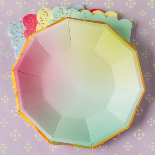 Toot Sweet Ombre Plates