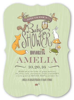 Whimsical Woodlands Invitations