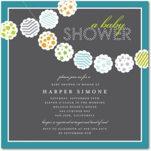 Baby Shower Invitations Colorful Clouds with Stars