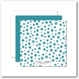 Baby Shower Invitations Colorful Clouds with Stars (back)