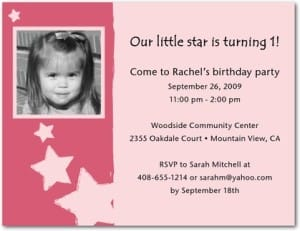 Little Superstar Star Party Invitations in Pink
