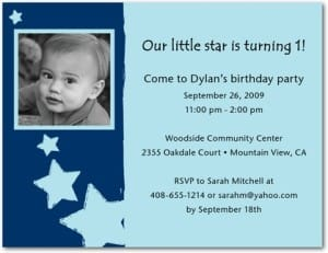Little Superstar Star Invitations in Blue