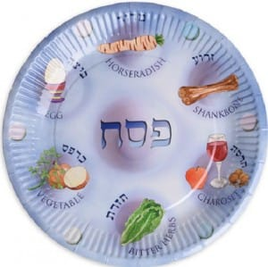 Paper Passover Seder Plates