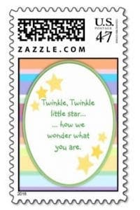 Twinkle Little Star Baby Shower Stamp
