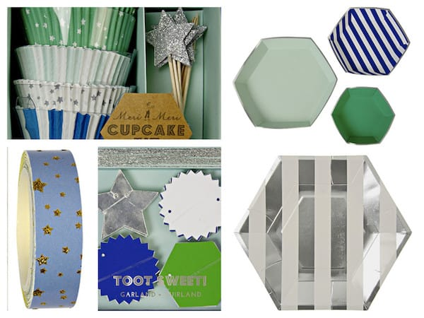 Blue Silver Star Party Supplies