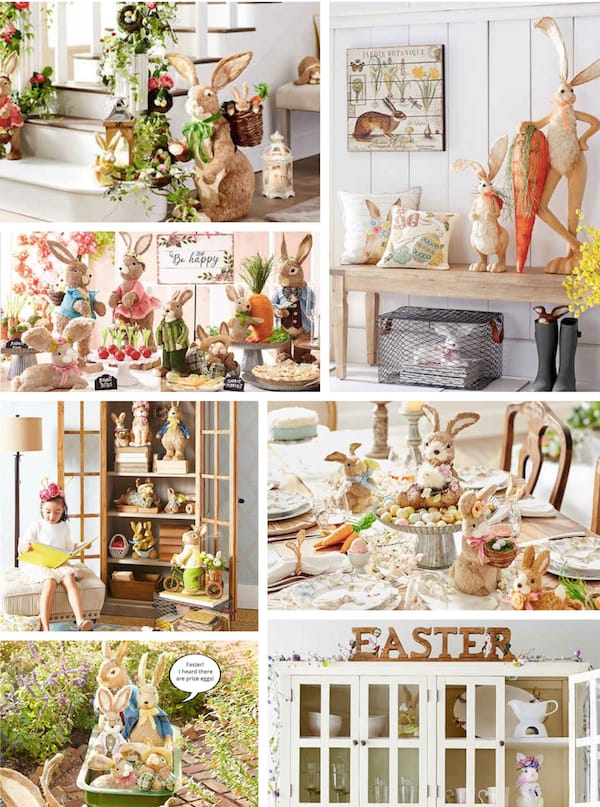 Decorating with Easter Bunnies