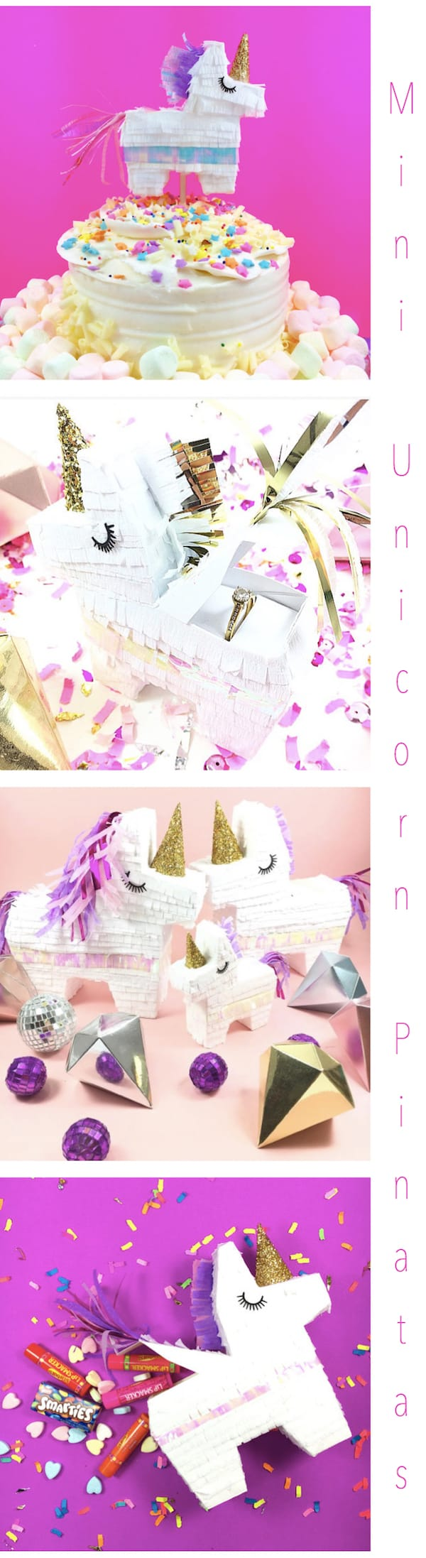 Mini Unicorn Pinatas