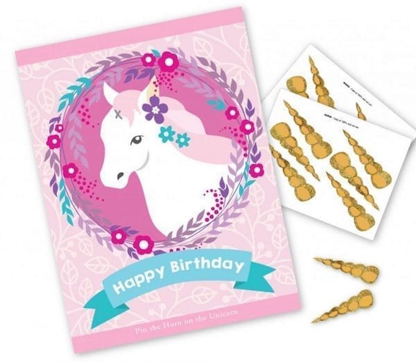 Printable Party Game Pin The Horn On Unicorn