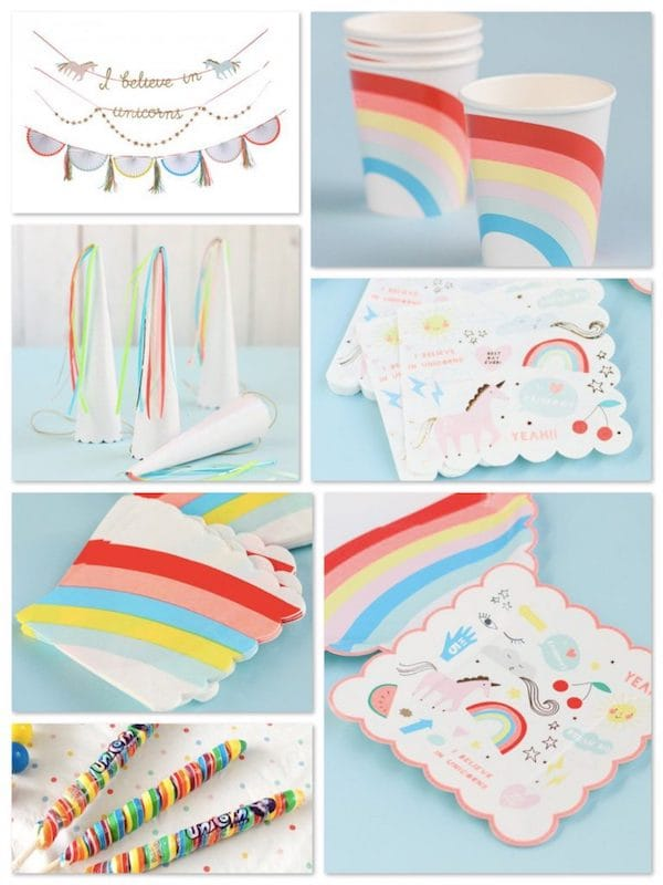 Rainbows and Unicorns Party Supplies