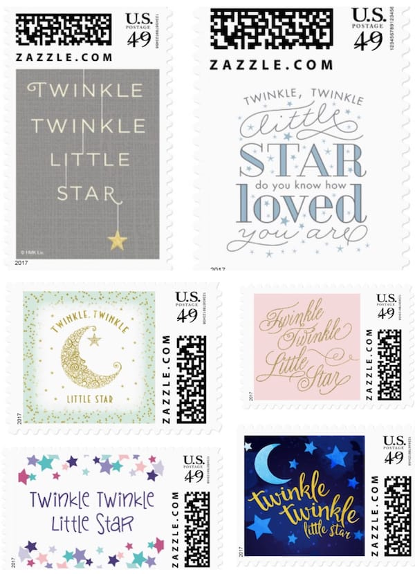Twinkle Twinkle Little Star Postage Stamps