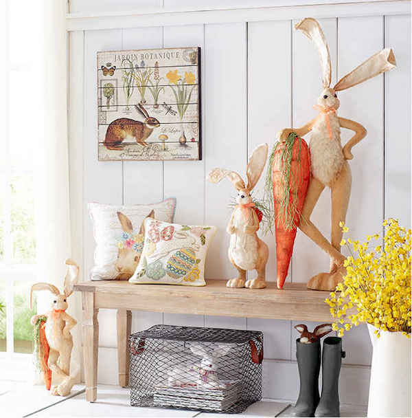 How to Decorate Your Home Entry with Easter Bunnies