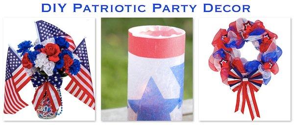 DIY Patriotic Party Supplies & Decor