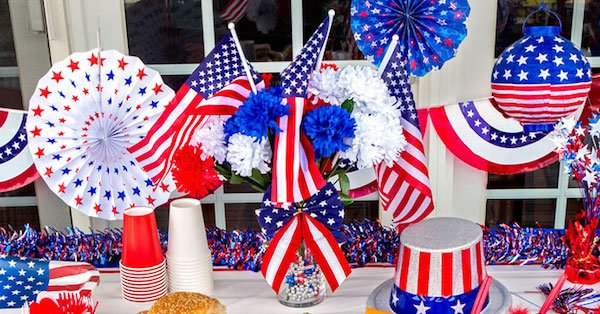 Patriotic Party Supplies and Table Decor
