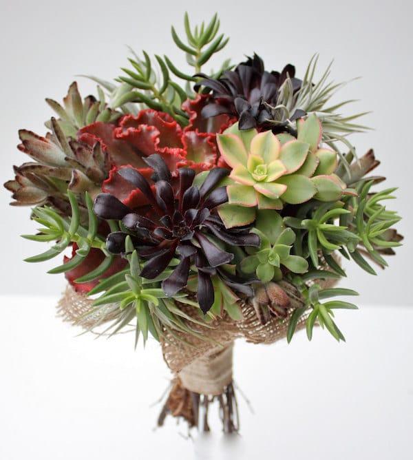Vibrant Succulent Bridal Bouquet