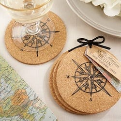 Compass Cork Coasters