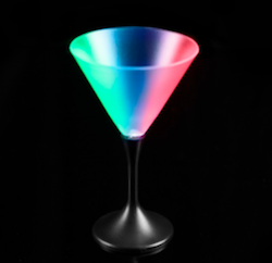 Glow in the Dark Martini Glass